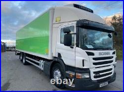 2012 scania p280 6x2 26 ton 32ft fridge freezer with tail lift or chassis cab