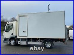2013 daf lf 45 160 7.5 ton multi temp fridge freezer with divider and tail lift