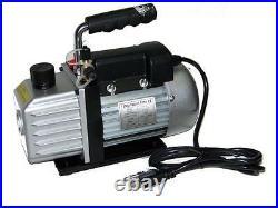 2.5 CFM 1 Stage Rotary Vane Deep Vacuum Pump Refrigerant AC Air Condition HVAC