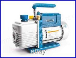 3CFM 2 Stages Refrigerant Vacuum Pump Refrigeration Gauges Tools Air Condition