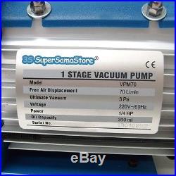 3S NEW REFRIGERATION A/C KIT Vacuum PUMP 2.5 CFM & MANIFOLD GAUGE SET 2 WAYS