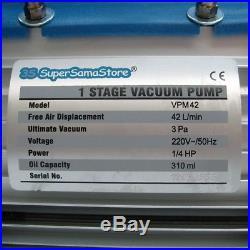3S REFRIGERATION New KIT VACUUM REFILL REFRIGERANT PUMP + GAUGE R410A R134a R32