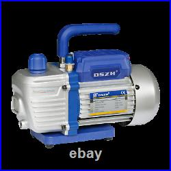 4.5CFM 2 Stages Refrigerant Vacuum Pump Refrigeration Gauges Tools Air Condition