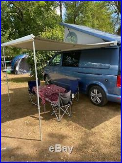Automatic VW T6 TRANSPORTER CAMPER VAN inflatable tent, VW bike rack & SlidePod