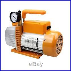 BACOENG 2-Stage 4.2CFM Vacuum Pump 220V AC HVAC Air Conditioning Refrigeration