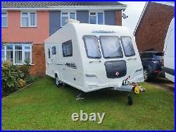Bailey Pegasus 462, 2010 2 Berth Caravan with Motor Mover. End washroom