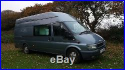 Camper van, ford transit, extra long WB, double birth