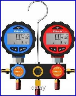 Digital 2 Manometer Tool SET Manifold Gauge Test Refrigeration Air conditioning