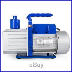 Get 9CFM 2 Stages Refrigerant Vacuum Pump 1HP A/C Air Conditioning Tool Pro