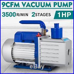 HQ 9CFM 2 Stages Refrigerant Vacuum Pump 1HP A/C Air Conditioning