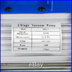 HQ 9CFM 2 Stages Refrigerant Vacuum Pump 1HP A/C Air Conditioning Tool Sell