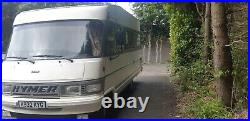 LHD Hymer 564 motorhome awning and safari room drives great 1yr mot 2.5 diesel