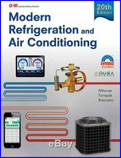 Modern Refrigeration and Air Conditioning by Andrew D Althouse 9781631263545