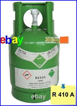 R410a Refrigerant Gas 10kg Virgin Refillable Cylinders