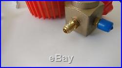 Refrigerant R410A R404A R134A 1/4'' Pressure Single Gauge A/C Tool Single Valve