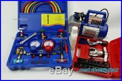 Refrigerant Vacuum Pump Gauge manifold Set Kit R407F R448a R449a