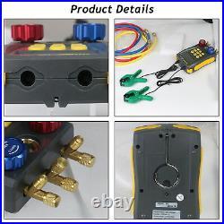 Refrigeration Digital Manifold HVAC Gauge Air Conditioning Leak Detector Tester