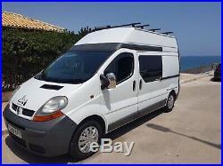 Renault trafic lwb high top campervan professionally converted self efficiency