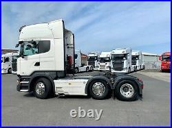 Scania R580 Topline V8 mid lift, Leather, Fridge, microwave, double glazing