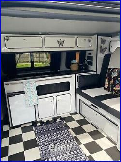 Vw camper van, low mileage, green and white